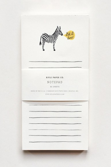 Get It Done Zebra Notepad by The Stationary Collection