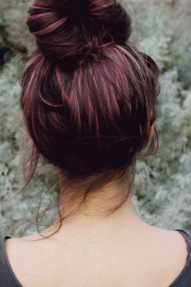PurpleHair_brunette_topknot