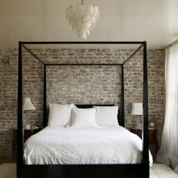 Interior Inspiration: Exposed Brick Wallpaper