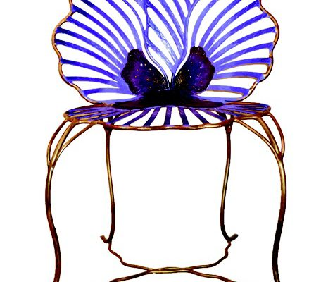 The pansy chair by Joy de Rohan Chabot