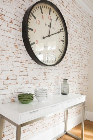 Exposed_Bricks_Wallpaper_Interior_Design_clock