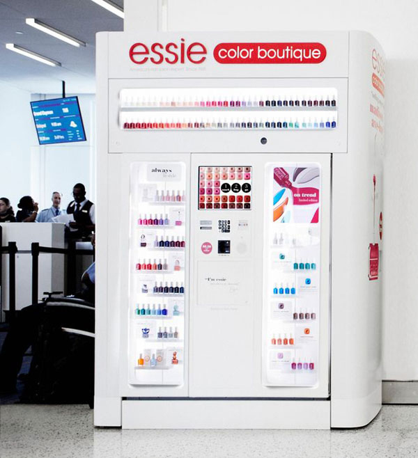 Essie's nail varnish vending machine