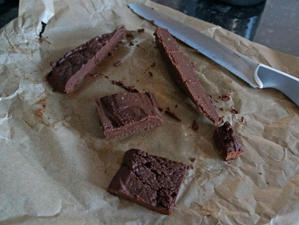 These raw brownies were a life saver during our 'no sugar' challenge.