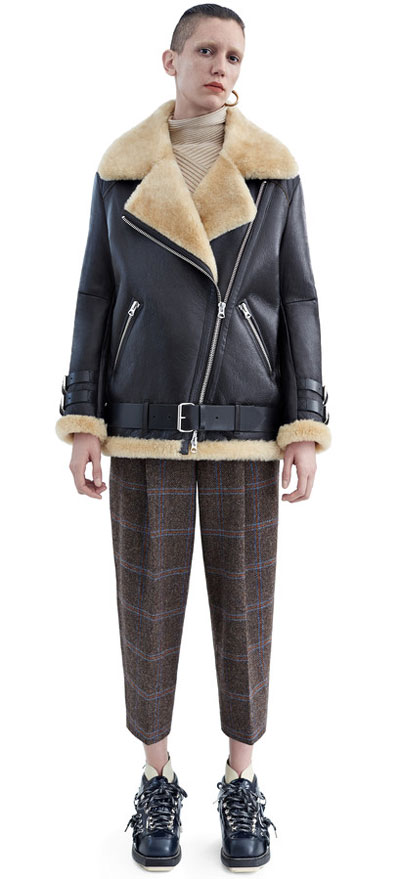 Acne Velocite leather jacket