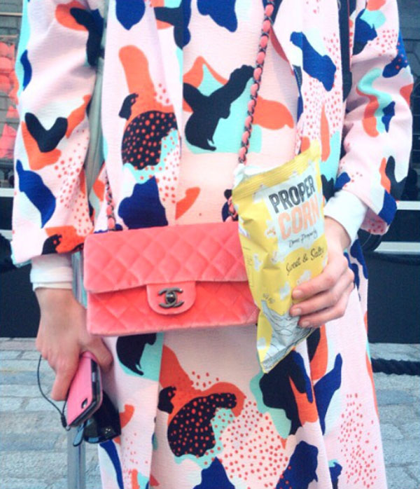The healthy snacks are perfect for fashionistas at LFW.