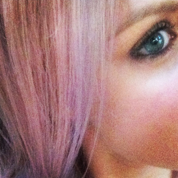 Alternating pink and lilac strands; created by Izzy at Hob Salons in Camden.
