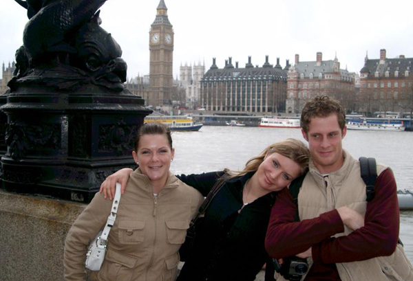 Exploring London with my best friends from home back in... 2006?
