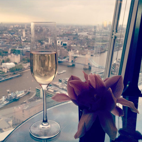 Champagne and views